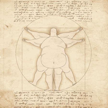 Illustration pour Conceptual modern basis of artwork by old painter - image libre de droit