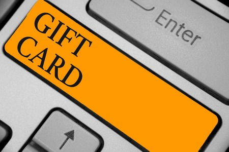 Gift Card text on Keyboard