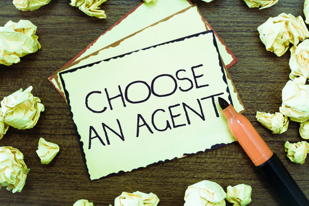 Word writing text Choose An Agent. Business concept for Choose someone who chooses decisions on behalf of you.