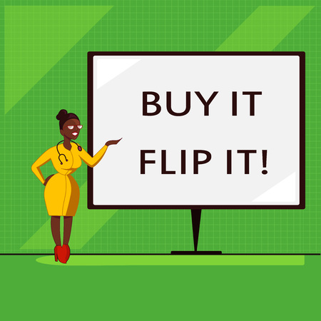 Conceptual hand writing showing Buy It Flip It. Business photo showcasing Buy something fix them up then sell them for more profit.