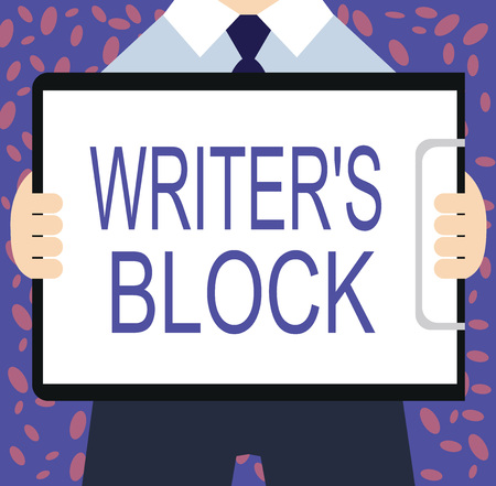 Writing note showing Writer s is Block. Business photo showcasing Condition of being unable to think of what to write.