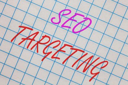 Word writing text Seo Targeting.