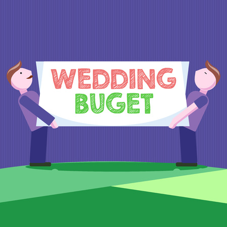 Conceptual hand writing showing Wedding Buget. Business photo showcasing Getting married in an economical way and not breaking the bank.