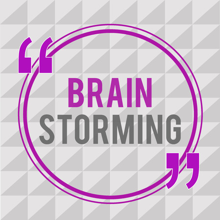 Conceptual hand writing showing Brain Storming. Business photo text Stimulating creative thinking Developing new ideas Discussion.