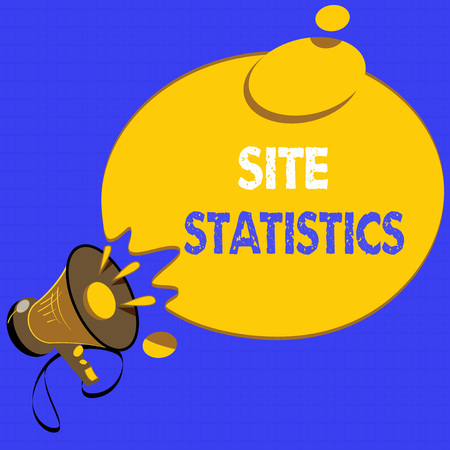 Handwriting text writing Site Statistics. Concept meaning measurement of behavior of visitors to certain website.