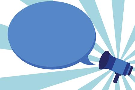 Illustration pour Flat design business Vector Illustration concept Empty template space text For promotion website and advertising Ad. Megaphone Announce Proclaim Relay Declare Speaker Speech Bubble caption - image libre de droit