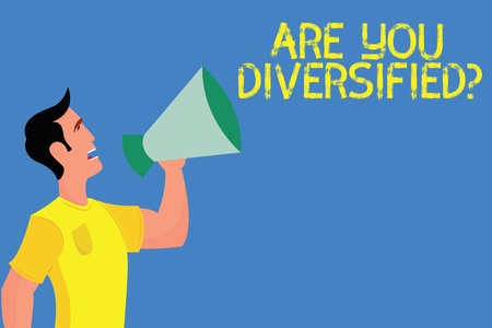 Word writing text Are You Diversified question. Business concept for someone who is Different Mixed Multi Faceted.