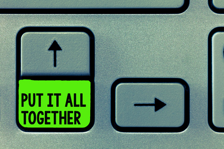 Word writing text Put It All Together. Business concept for Join Collectively Unified Integrated Linked Merge.