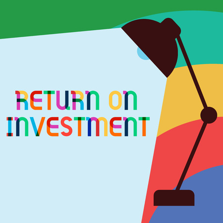 Text sign showing Return On Investment. Conceptual photo Ratio between the Net Profit and Cost invested.