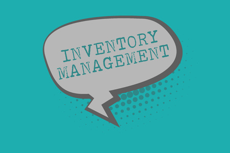 Conceptual hand writing showing Inventory Management. Business photo text Overseeing Controlling Storage of Stocks and Prices.