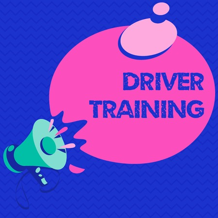 Word writing text Driver Training. Business concept for prepares a new driver to obtain a driver's license.