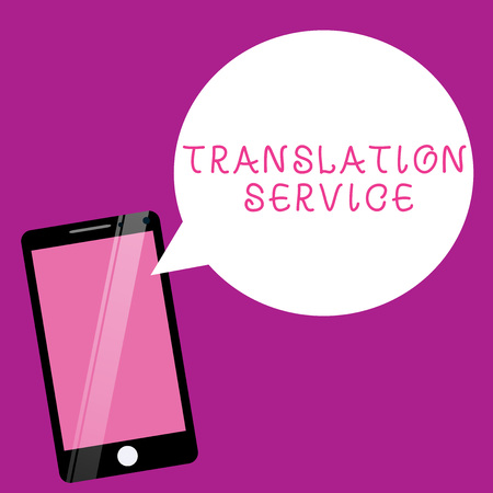 Writing note showing Translation Service. Business photo showcasing the Equivalent Target Language from the Mother Tongue.
