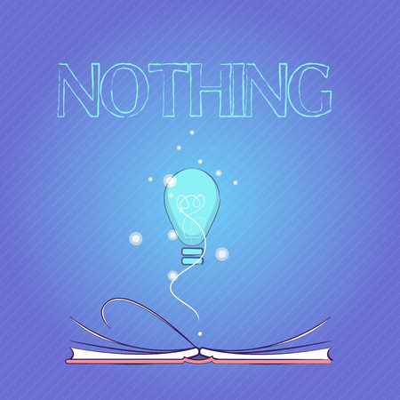 Word writing text Nothing. Business concept for Not anything No single thing or value Absence of progress Blank.