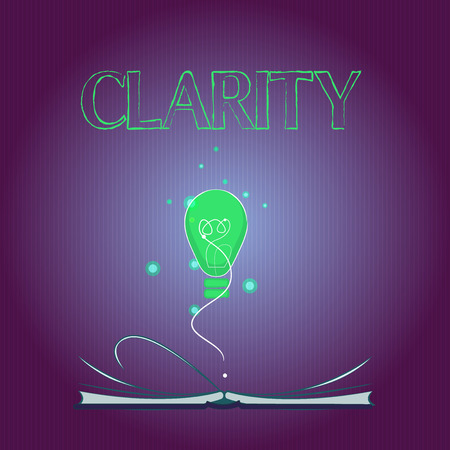Photo pour Word writing text Clarity. Business concept for Being coherent intelligible Understandable Clear ideas Precision. - image libre de droit