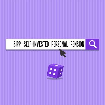 Conceptual hand writing showing Sipp Self Invested Personal Pension. Business photo showcasing Preparing the future Save while young.