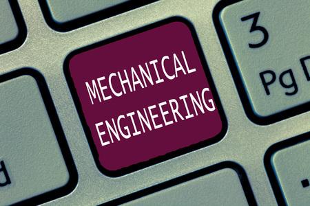 Photo pour Text sign showing Mechanical Engineering. Conceptual photo deals with Design Manufacture Use of Machines. - image libre de droit