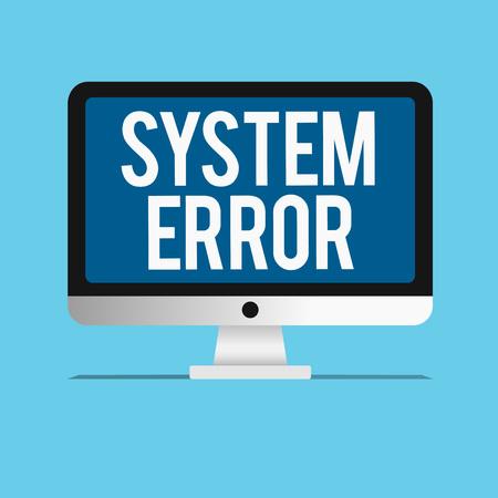 Foto de Conceptual hand writing showing System Error. Business photo showcasing Technological failure Software collapse crash Information loss. - Imagen libre de derechos