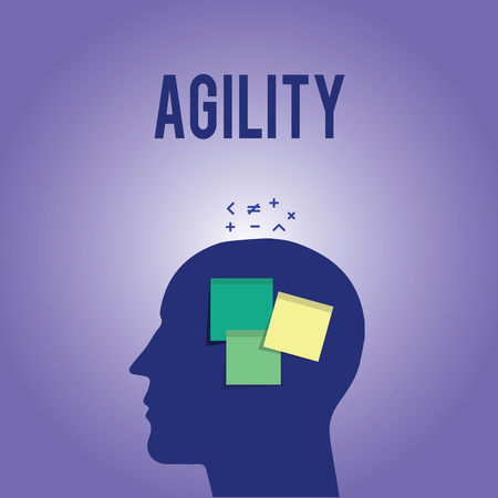 Foto de Word writing text Agility. Business concept for Ability to move think understand quickly and easily Fast development. - Imagen libre de derechos
