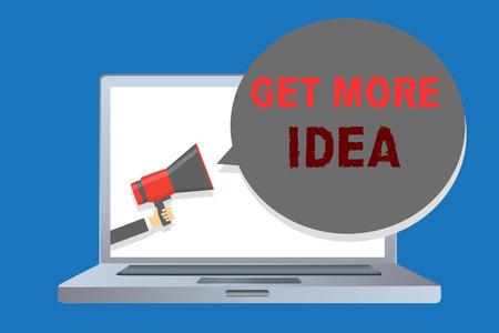 Photo pour Writing note showing Get More Idea. - image libre de droit