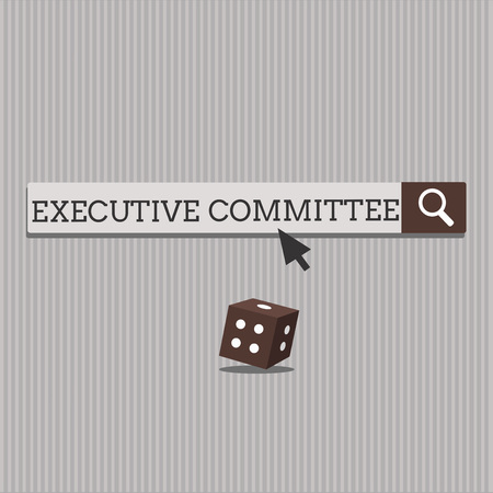 Handwriting text Executive Committee. Concept meaning Group of Directors appointed Has Authority in Decisions.