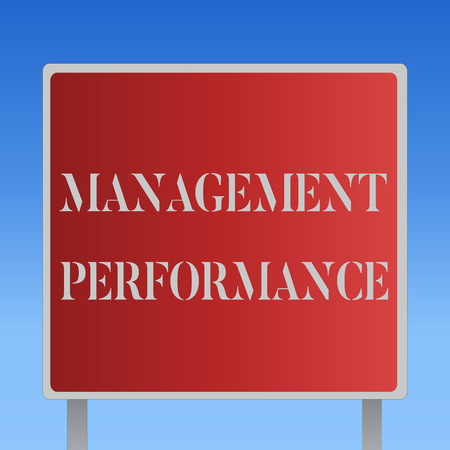 Foto de Writing note showing Management Performance. Business photo showcasing feedback on Managerial Skills and Competencies. - Imagen libre de derechos