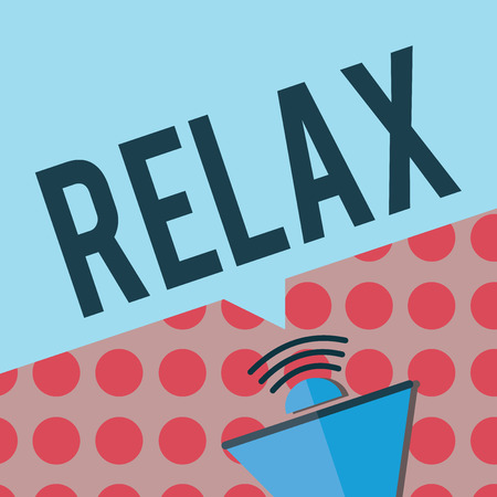 Conceptual hand writing showing Relax. Business photo text make or become less tense anxious calming down no restrictions.