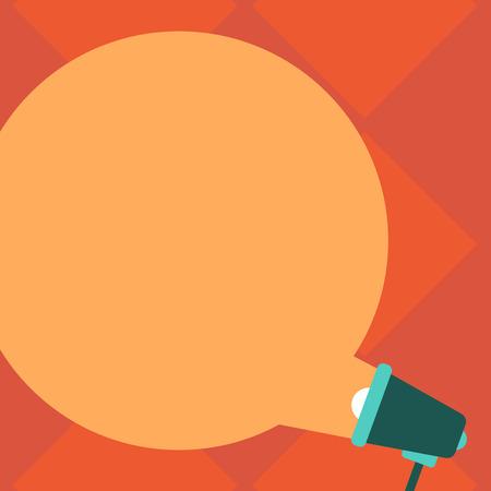 Illustration pour Design business concept Business ad for website promotion banners empty social media ad. Blank Round Color Speech Bubble Coming Out of Megaphone for Announcement - image libre de droit