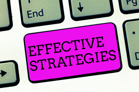 Word writing text Effective Strategies. Business concept for Sound Tactical Scheme Powerful Operational Decisions.