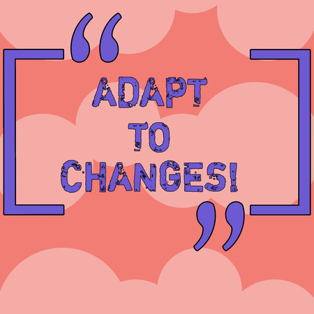 Text sign showing Adapt To Changes. Conceptual photo change your ideas or behaviour to deal with it successfully Rows of Blank Color Circles Overlapping in Seamless Repetition Pattern