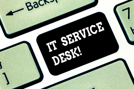 Handwriting text writing It Service Desk  Concept meaning