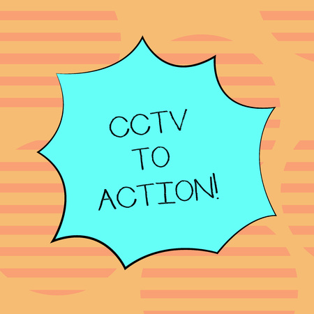 Word writing text Cctv In Action  Business concept for