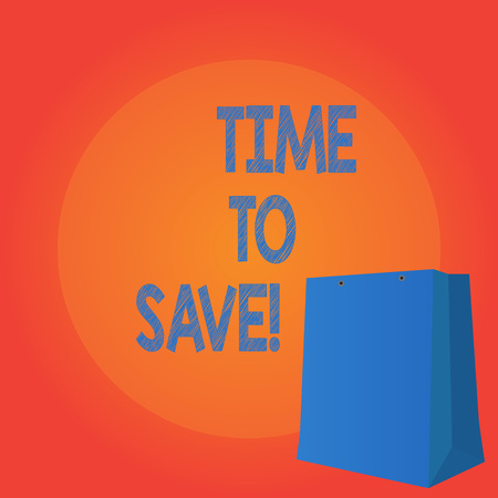 Handwriting text writing Time To Save. Concept meaning Start saving money for the future or coming plans Invests