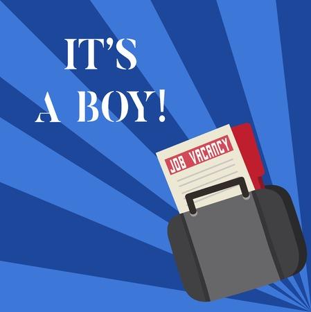 Photo pour Text sign showing It's A Boy. Conceptual photo Expecting a male baby cute blue colors a lot of car toys - image libre de droit