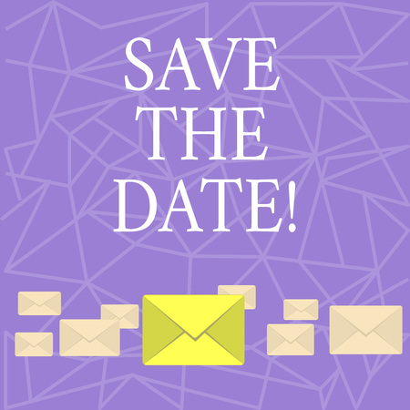 Text sign showing Save The Date. Conceptual photo Systematized events Scheduled activity Recorded Filed