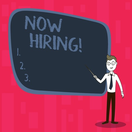Handwriting text Now Hiring. Conceptual photo Workforce Wanted Employees Recruitment