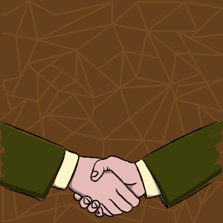 Businessmen Shaking Hands Firmly as Gesture Form of Greeting and Agreement Design business concept Empty copy space modern abstract background