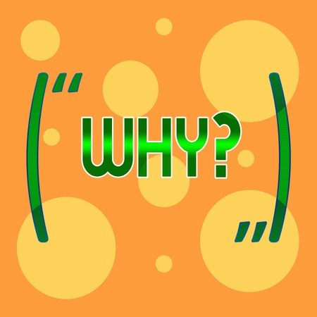 Text sign showing Whyquestion. Business photo showcasing Asking for specific answers of something interrogate inquire Different Sizes of Blank Yellow Circles in Random on Pale Orange Backdrop