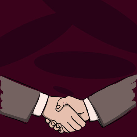 Businessmen Shaking Hands Firmly as Gesture Form of Greeting and Agreement Business concept Empty template copy space isolated Posters coupons promotional material