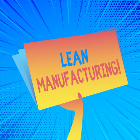 Handwriting text Lean Manufacturing. Conceptual photo focus on minimizing waste within analysisufacturing systems Hand Holding and Raising Blank Space Colorful File Folder with Sheet Inside