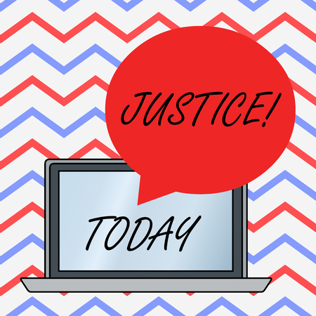 Text sign showing Justice. Business photo text impartial adjustment of conflicting claims or assignments