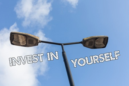 Photo pour Text sign showing Invest In Yourself. Business photo text learn new things or materials thus making your lot better - image libre de droit