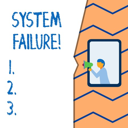 Photo pour Conceptual hand writing showing System Failure. Concept meaning Occur because of a hardware failure or a software issue - image libre de droit