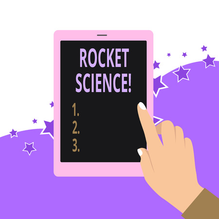 Photo pour Handwriting text Rocket Science. Conceptual photo difficult activity that you need to be intelligent to do - image libre de droit