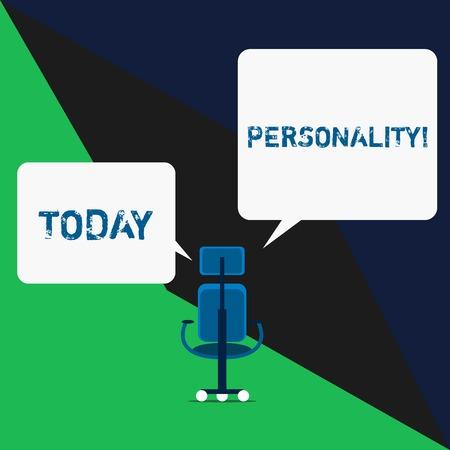 Photo pour Text sign showing Personality. Business photo text combination characteristics that form individuals character - image libre de droit