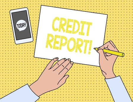 Word writing text Credit Report. Business photo showcasing it is the detailed report of an individual s is credit history