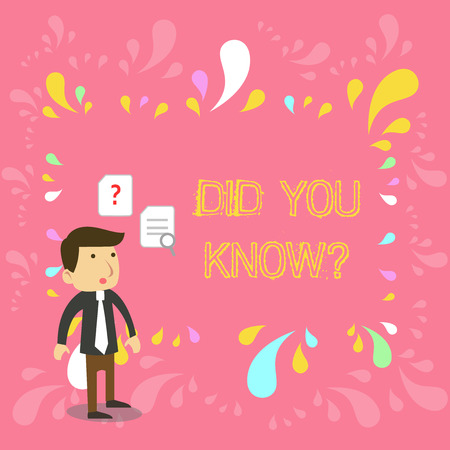 Foto de Conceptual hand writing showing Did You Know Question. Concept meaning when you are asking someone if they know fact or event - Imagen libre de derechos
