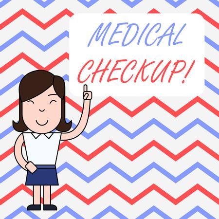 Handwriting text writing Medical Checkup. Conceptual photo thorough physical examination includes variety of tests