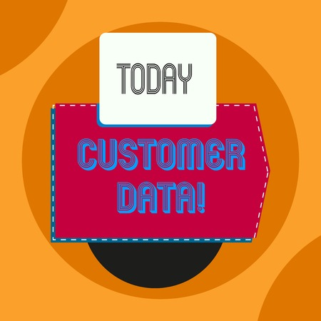 Word writing text Customer Data. Business photo showcasing all records and information pertaining to any customerの写真素材
