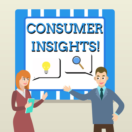 Handwriting text Consumer Insights. Conceptual photo understanding customers based on their buying behavior Business Partners Colleagues Jointly Seeking Problem Solution Generate Idea