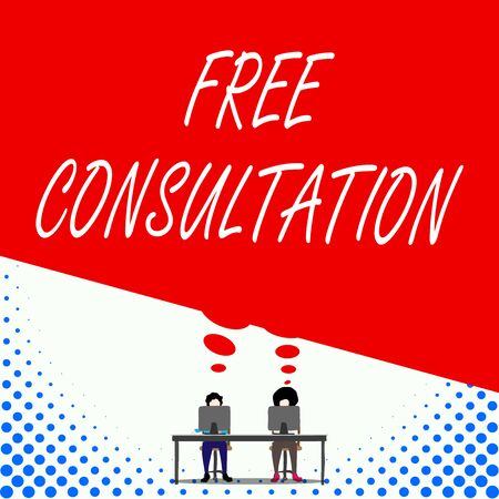Text sign showing Free Consultation. Business photo text Giving ...